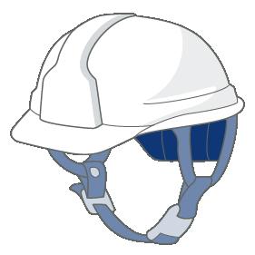 「燃やすごみ」もしくは「燃やせないゴミ」のヘルメット